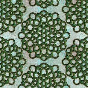 Fake Jade Snowflakes