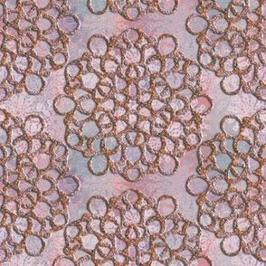 Pink Pebble Snowflakes