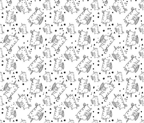 unicorn cecream pattern doodle