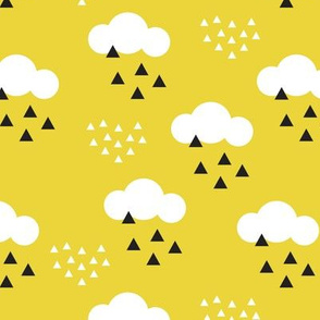 geometric pastel sleepy baby mustard sky cloud pattern