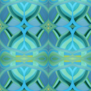Turquoise Gift Wrap by Valeria Marcus