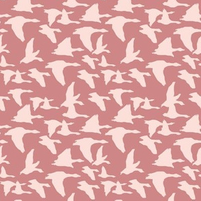 Birds in mauve