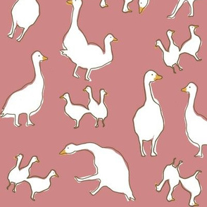 Geese in mauve
