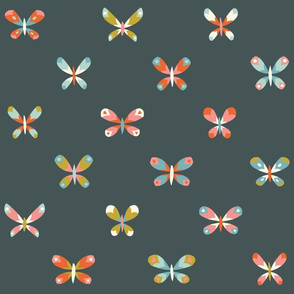 Butterflies grid // by petite_circus
