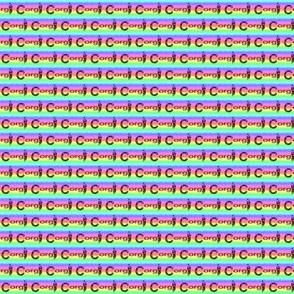 Small Rainbow Corgi Sploot - Cardigan