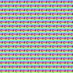 Small Rainbow Corgi Sploot - Pembroke