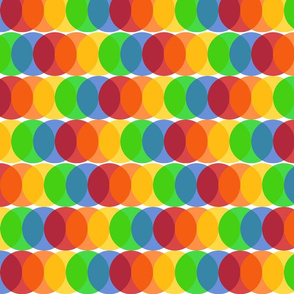 Overlapping Dots - Rainbow
