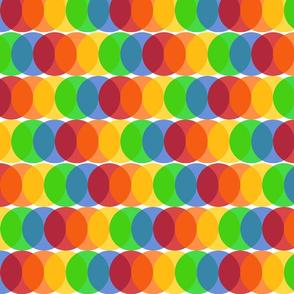 Overlapping Dots - Rainbow