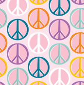 Peace Signs: Pink