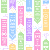 State Fair Prize Ribbons
