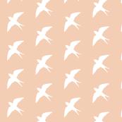 White Bird_on_Powder Peach