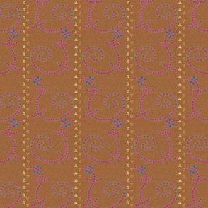 Buttoned Lizards in a Stripe