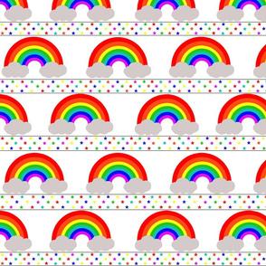 Rainbow Stars White