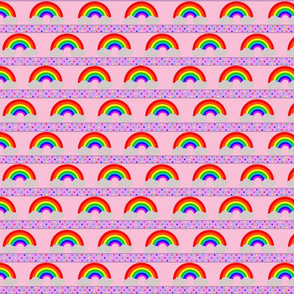 Rainbow Stars Pink Small