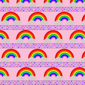 Rainbow Stars Pink