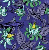 The Sea Garden - midnight blue