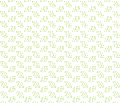 Falling Leaves in Lime Green