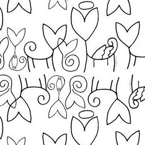 Tai's Sphynx Black on White