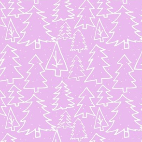 Purple Christmas Trees