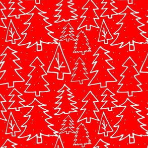 Red Christmas Trees