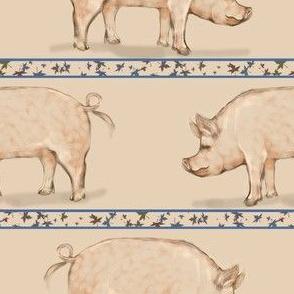 Hog and Leaf Stripe