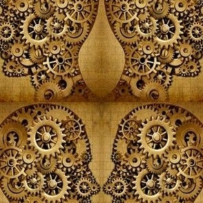 Steampunk gears wheels cogs metal faces