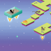 Pixel Cats in Space - Dusk