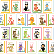 Little Cuties Animals Cards