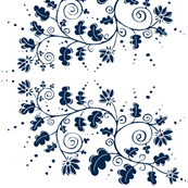 Curlique Delft Blue-#02264A