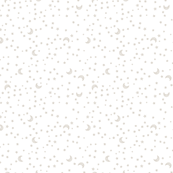 Baby Scribble Moon and Stars Neutral Beige on White