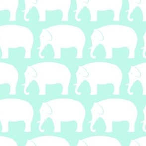 white-and-mint-elephants