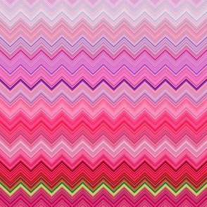 DREAM OF A ORANGE PINK SEA GARDEN Chevrons zigzag 2