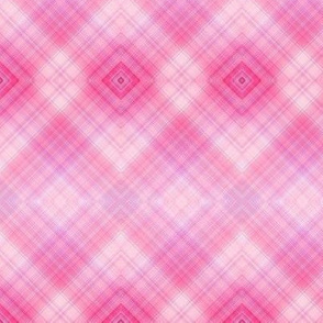 DREAM OF A ORANGE PINK SEA GARDEN Diagonal Plaid