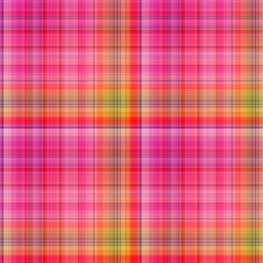 DREAM OF A ORANGE PINK SEA GARDEN Plaid 3