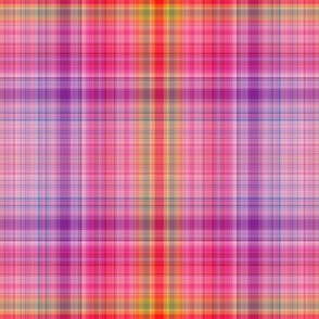 DREAM OF A ORANGE PINK SEA GARDEN PLAID 1