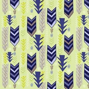 Blue Stripe Chevrons