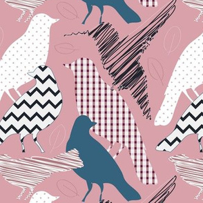 Scrapbirds in pink