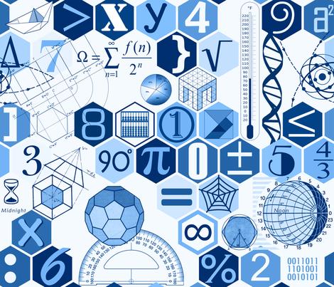 Math in blue