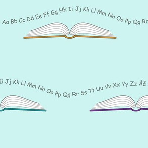 School books__with_letters_and_numbers_blue