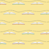 School books__with_letters_and_numbers_yellow