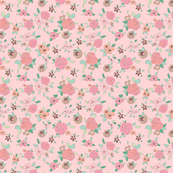 Ditsy Pink Rose