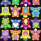 Furby Frenzy - on black