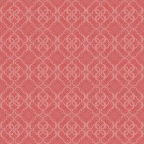 024 Quatrefoil red
