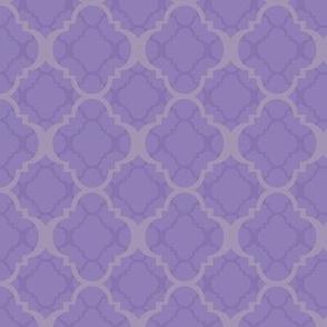 024 Quatrefoil purple