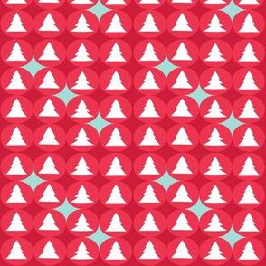 Christmas tree polka red