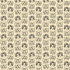 Cute Cats | Natural/Dark Grey