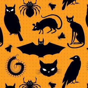 creatures of the night orange dots