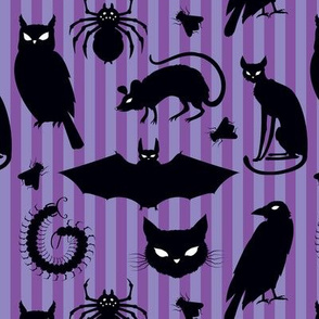 creatures of the night purple stripes