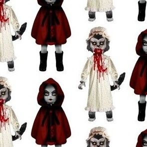 creepy_zombie_little_girl_and_wolf_
