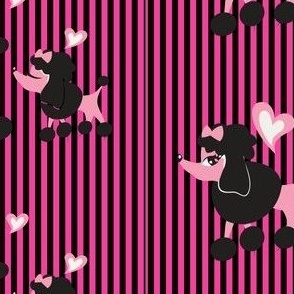 poodles_pink_and_black_stripe